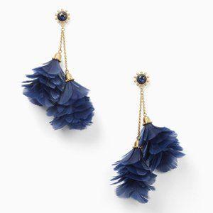 NEW Kate Spade In Full Feather Tassel Earrings